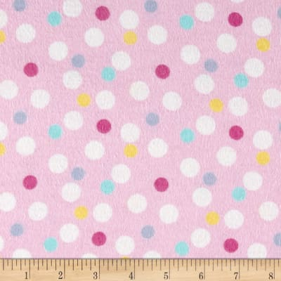 Baby Dots Flannel Pink