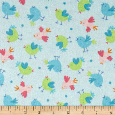 Chicks Flannel Aqua