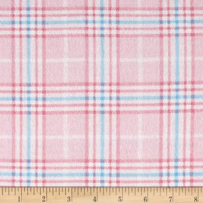 Nursery Plaid Flannel Pink