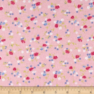 Posies Flannel Pink