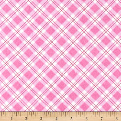 Small Argyle Flannel Pink