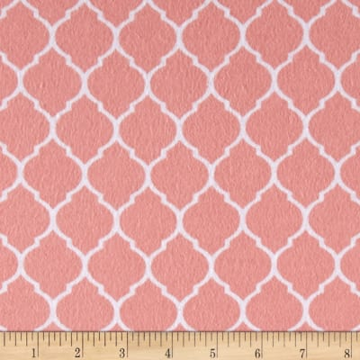 Flannel Trellis Watermelon/White