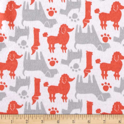 Flannel Dog Silhouettes Grapefruit