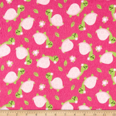 Flannel Turtle Pink
