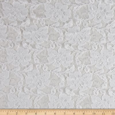 Floral Stretch Lace White