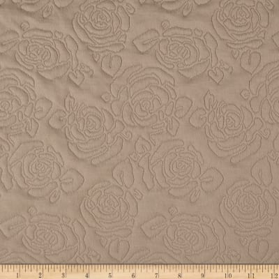Double Knit Quilted Rose Beige