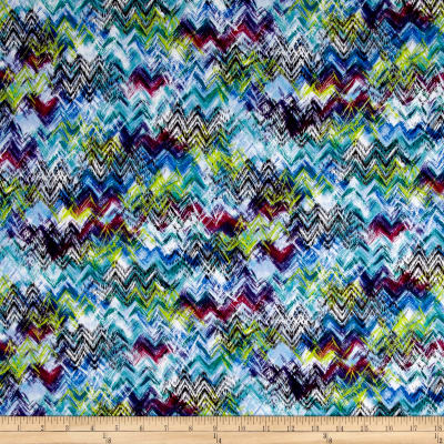 Rayon Spandex Jersey Knit Abstract Chevron Multi