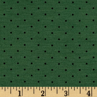 Poly Rayon Spandex Jersey Knit Mini Dot Green/Black