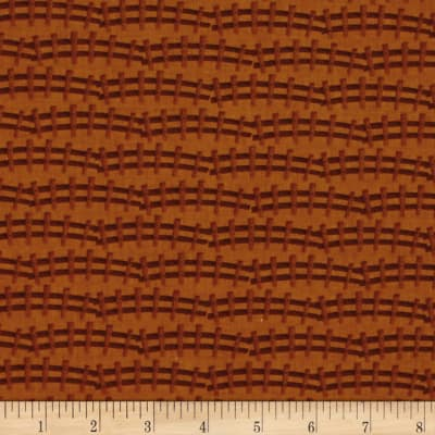 Barnyard Quilts Fence Brown