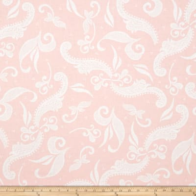 Hoffman Simply Eclectic Lace Scroll Blush