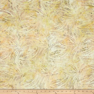 Wilmington Batiks Fern Leaves Tan/Yellow