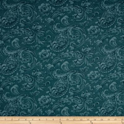 "108"" Wide Quilt Back News Paisley Floral Blue"