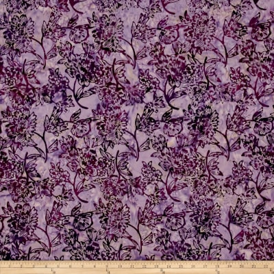 Timeless Treasures Tonga Batiks Petals Flower Cutting Plum