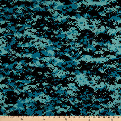 Urban Camouflage Teal/Black