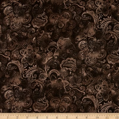 "108"" Wide Quilt Back Fleur Brown"