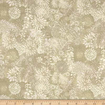 "108"" Wide Quilt Back Packed Floral Taupe"