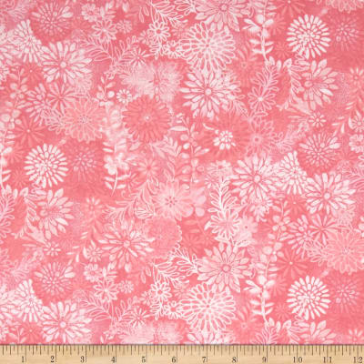 """44"""" Wide Quilt Packed Floral Pink"""