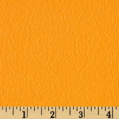 Fluffy Flannel Solids Tangerine