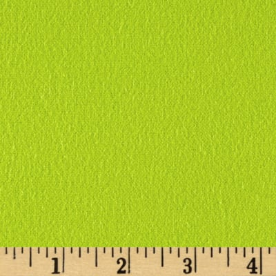 Fluffy Flannel Solids Apple Green