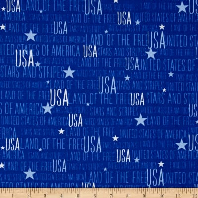 Stars And Stripes Words Blue