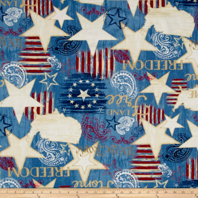 Colors Of Freedom Large All Over Light Denim