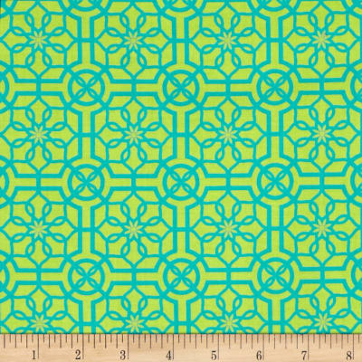 Bahama Breeze Trendy Trellis Lime/Turquoise
