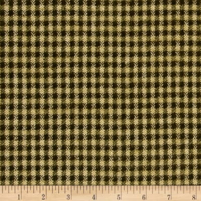 Primo Flannel Christmas Checks Green