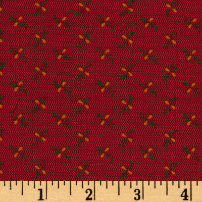 Old Sturbridge Village Stem Plaid Red