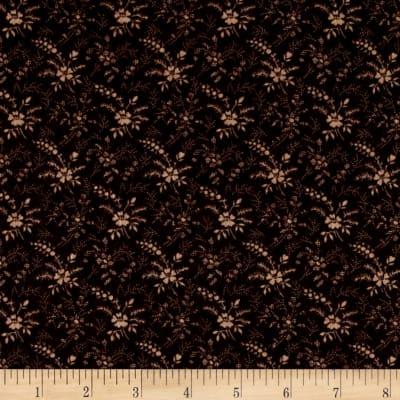 Cozies Flannel Harvest Flower Black