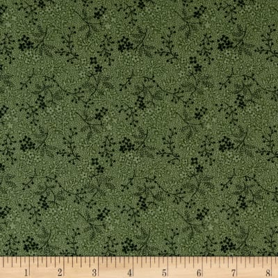 Cozies Flannel Twigs Green