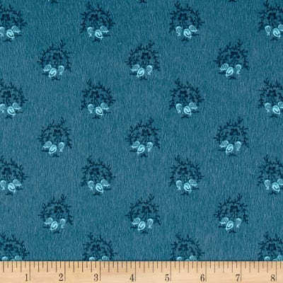 Cozies Flannel Large Foulard Blue