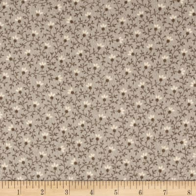 Cozies Flannel Flower Vine Grey