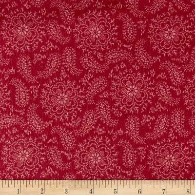 Cozies Flannel Paisley Flower Pink