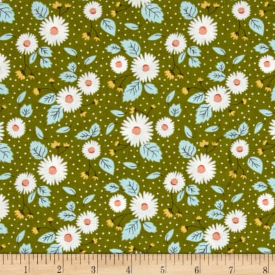 Moda Little Miss Sunshine Fresh Daisies Leaf