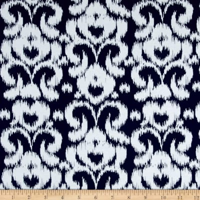 Riley Blake Ikat Jersey Knit Navy
