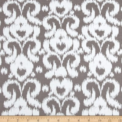 Riley Blake Ikat Jersey Knit Gray