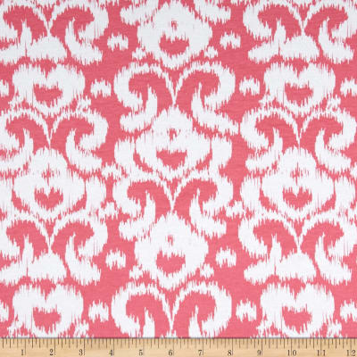 Riley Blake Ikat Jersey Knit Hot Pink