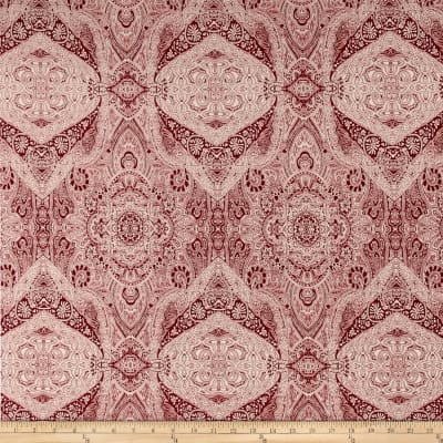 Maya Stretch ITY Knit Damask Bordeaux