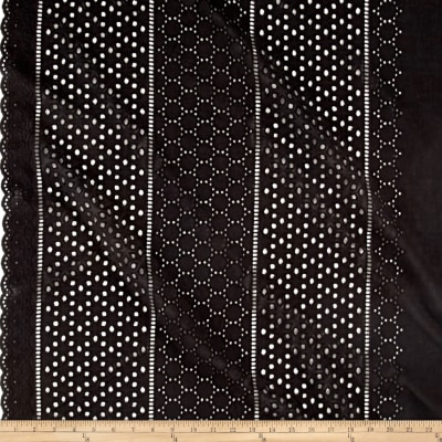 Cotton Embroidery Border Black