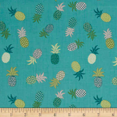 Tropicana Tossed Pineapples Teal