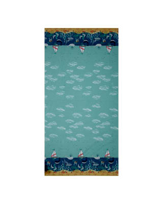 Tales of The Sea Whale Border Blue