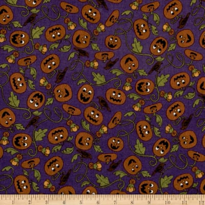 Pumpkin Party Flannel Pumpkin Patch Purple