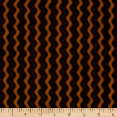 Pumpkin Party Flannel Stitched Stripe Orange Black