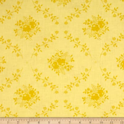 "108"" Wide Quilt Back Fleur Yellow"