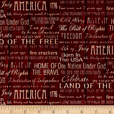 American Pride Proud To Be American Words Red