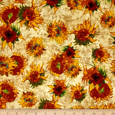 Kaufman Vincent Van Gogh 2 Forest Sunflowers Straw