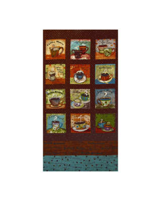 Coffee House Large 23 In. Panel Brown