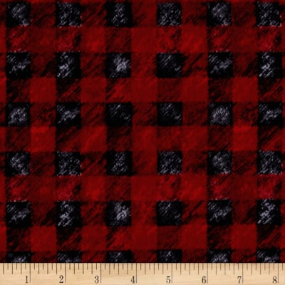 Lodge Life Flannel Buffalo Plaid Red