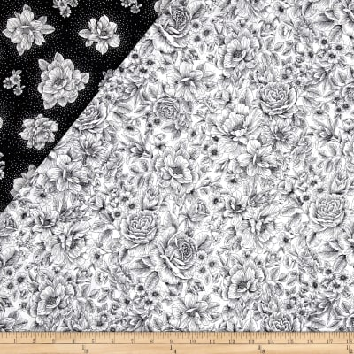 Opposites Attract Double Sided Quilted Toile Black/White