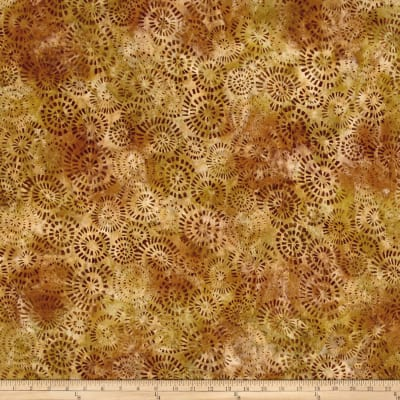 Kaufman Natural Formation Batiks Flower Burst Spice